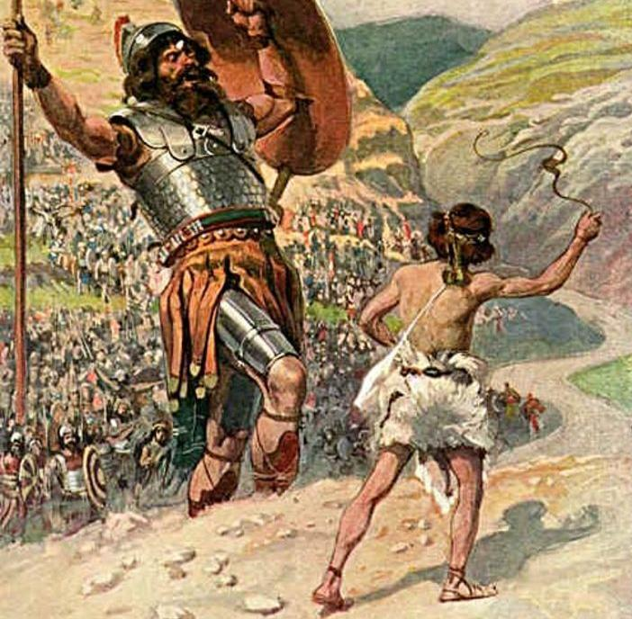 David Alone Fought The Giant Goliath and Won